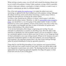 creativity essay examples creative writing example cover letter creative writing essay examples best photos of creative writing examples essay example