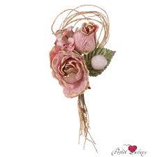 <b>Искусственное растение Lefard</b> Роза Китай 23 см Текстиль