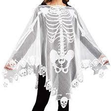 Ourwarm <b>Lace Skeleton</b> Poncho <b>Skull</b> Spider Web <b>Halloween Party</b> ...