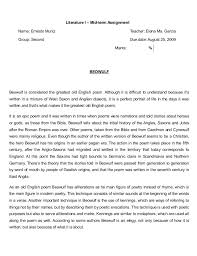beowulf essay topics beowulf epic hero essay christianity in Example Resume And Cover Letter