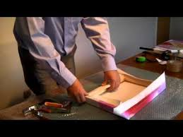 How to stretch a <b>print</b> over a <b>canvas frame</b> - YouTube