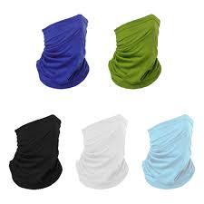 <b>5Pcs</b> Bandana <b>Face Mask</b> Neck Gaiter, <b>Face</b> Scarf <b>Mask</b> Tube ...