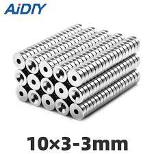 <b>AIDIY</b> 10/30/<b>100 pcs</b> 8mm x 3mm Super strong neodymium magnet ...