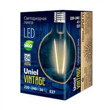 <b>Лампа</b> светодиодная <b>Uniel</b> Vintage <b>LED G95 E27</b> (<b>GLV21GO</b>) 4 Вт ...