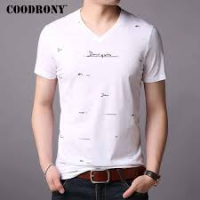 Detail Feedback Questions about <b>COODRONY Cotton T Shirt</b> Men ...