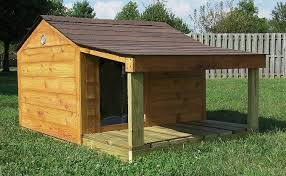 Diy shed plans x   diy dog house   porchWhen cutting the opening make sure it    s only just large enough for your dog to fit inside  While looking simple it still looks beautiful and is a practical