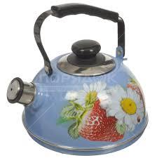 Чайник <b>эмалированный</b> Рубин Ростов С2533 со свистком ...
