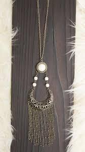 Tribal Stone & <b>Fringe Necklace</b> – Msky