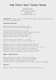high school dance teacher resume sample featuring awesome job fullsize by gritte high school dance teacher resume sample featuring awesome job objective