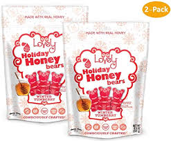 GELATIN-FREE Yumberry Honey Gummy Bears (2-Pack) - <b>Lovely</b>