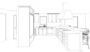 kitchen layout drawing