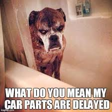 What do you mean my car parts are delayed meme | Funny Car Memes ... via Relatably.com