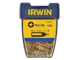 <b>Отвёрточная вставка</b> Ph2 TiN 25мм <b>Irwin</b> 10504334