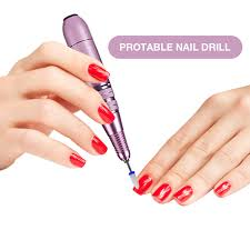 Pink/Silver Pro Portable <b>Nail Drill Machine</b> For Manicure <b>Electric</b> ...