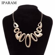 IPARAM <b>2019 New</b> metal necklace <b>fashion female</b> brief paragraph ...