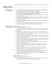 resume for promotional products s