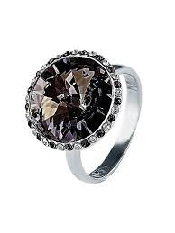 <b>Кольцо</b> Enigme с черными кристаллами <b>Swarovski</b> Mademoiselle ...