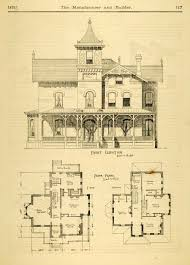 Victorian house plans  Home plans and Victorian on Pinterestvintage Victorian House Plans   Print House Home Architectural Design Floor Plans Victorian