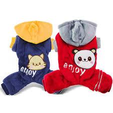 <b>Winter</b>-Warm <b>Pet Dog Puppy Cat</b> Kitten Clothes Hooded Jumpsuit ...