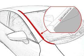 <b>Дефлекторы окон Nissan KE8004M410</b> для Nissan Sentra 2014 -