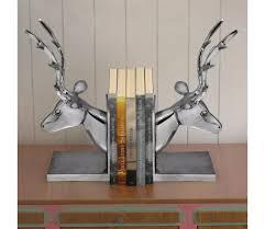vidaXL Bookends Deer <b>2 pcs Aluminum Silver</b> | vidaXL.com