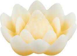 "<b>Свеча плавающая</b> Мир <b>свечей</b> ""Лотос"", 42-2, желтый, белый, 8 х ..."