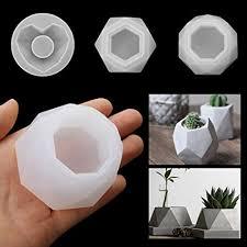 Amazon.com: 3 PCS <b>Silicone Resin Flower Pot</b> Ash TrayMolds, DIY ...