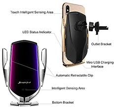 EERIE Smart Sensor Wireless <b>Car</b> Charger Mount, Automatic ...