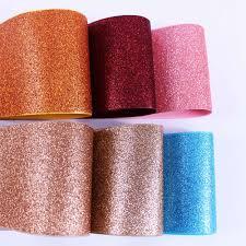 "19colors <b>10y</b>/lot 3""75mm sparkle solid Glitter ribbon Rainbow ..."