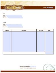 business invoice template excel pdf word doc artist invoice template