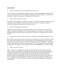 i have provided a picture of the checklist and requirements of this essay as a attachment enc1102 week 4 song analysis body preview 0 words song analysis essay example