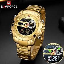 New NAVIFORCE Top <b>Luxury Brand Men</b> Watch Quartz Male Clock ...