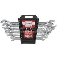 Набор рожковых <b>ключей Bartex</b> хромированный 6 шт, 6-17 мм в ...