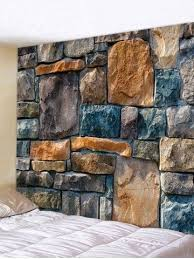 Wall Hanging Art <b>Stones Wall Print</b> Tapestry | Стена дизайн ...