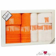 Купить набор <b>полотенец</b> цвет оранжевый в РОССИИ - Я Покупаю