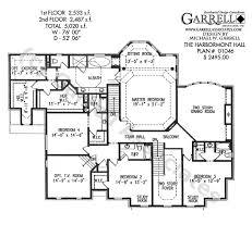 Harbormont Hall House Plan   House Plans by Garrell Associates  Inc Harbormont Hall   Classic Revival House Plans  Williamsburg House Plans