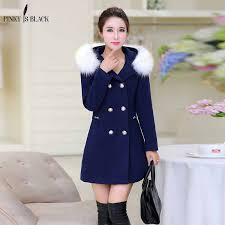 <b>PinkyIsblack New 2019</b> Autumn Winter Wool Coat <b>Women</b> Long ...