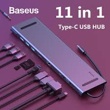 <b>Baseus 11 In 1</b> Type-C USB-C <b>Hub</b> Adapter With USB 3.0/PD/HDMI ...