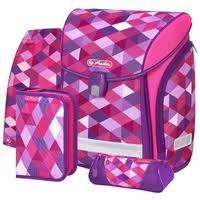 <b>Herlitz Ранец</b> New <b>Midi Plus</b> Pink Cubes с наполнением — купить ...