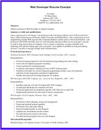 web developer resume sample web resumes example cover letter gallery of sample developer resume