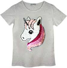 <b>Girls</b> Swan <b>Heart T</b>-<b>Shirt</b> Tee Top Brush Changing Sequin Age 3-14 ...