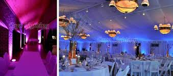 the uplighters use rgb red green blue color mixing so therefore can create many different colors our led uplighting can cover any specific area of your blue wedding uplighting