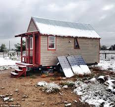 tiny house the boulder couple built a 7 by 19 foot wooden boulder tiny house front
