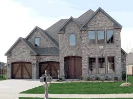 McClure European Home Plan D    House Plans and MoreEuropean Home Commands Attention With Brick And Stone Façade