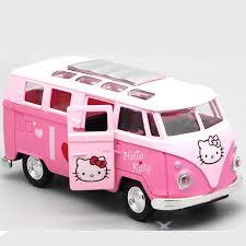 Children's toys <b>Cute</b> cartoon cat KT mini bus back door male <b>girl</b> ...