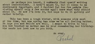 nature wondrous and fragile the correspondence of rachel carson carson letter excerpt