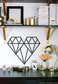 DIY Washi Tape <b>Geometric</b> Heart - Homey Oh My