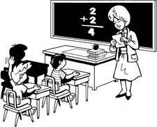 Image result for free art clip of teacher and students