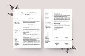 4 page resume template ms word resume templates on creative market
