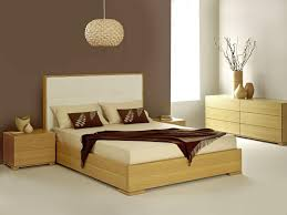 modern interior design ideas for bedroom with interesting pine f wood bedframe and white leather high bedroomendearing styling white office